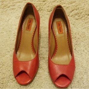 Miz mooz wedge red shoes size 6